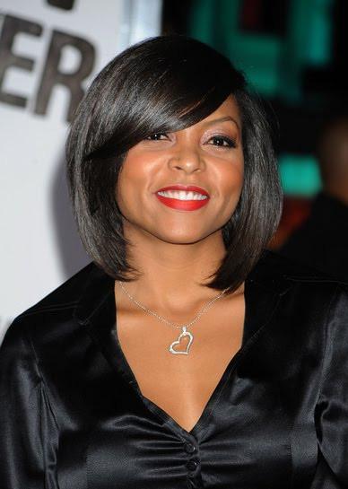 Medium Length African American Hairstyles  African American Wedding Hairstyles & Hairdos Taraji s