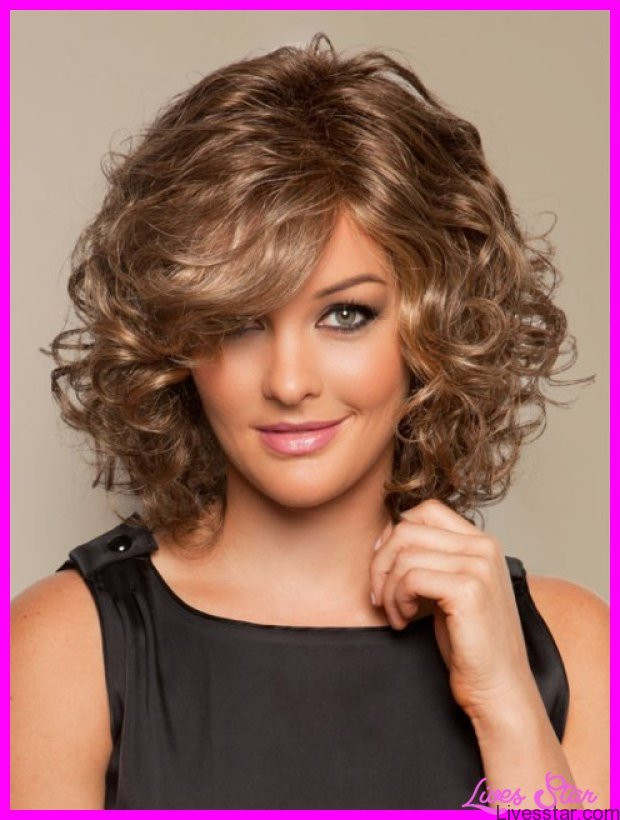 Medium Length Curly Hairstyles  Medium length haircuts for curly hair and round face