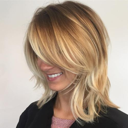 Medium Length Hairstyles Layered  70 Brightest Medium Length Layered Haircuts and Hairstyles