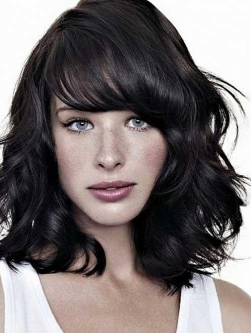 Medium Length Hairstyles Thick Hair  25 Short Medium Length Haircuts