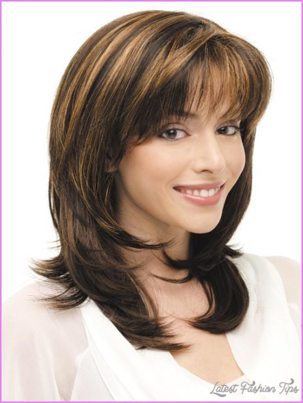 Medium Length Layered Hairstyles  Medium length haircuts no bangs layers LatestFashionTips