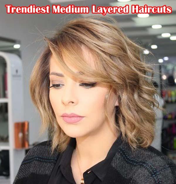 Medium Length Layered Hairstyles  50 Tren st Medium Length Layered Haircuts