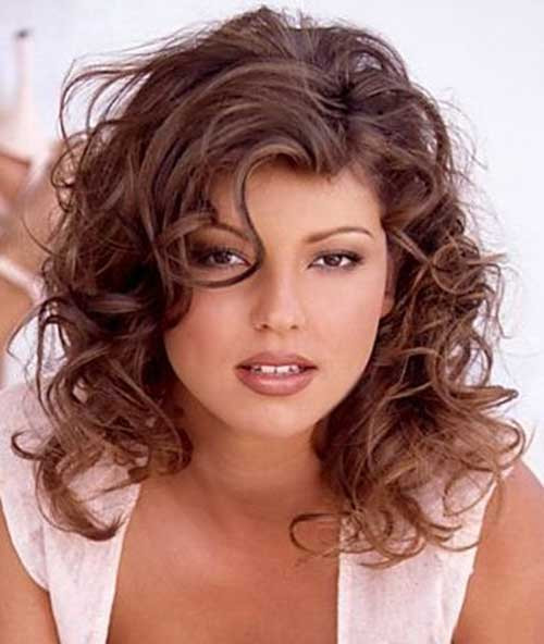 Medium Length Naturally Curly Hairstyles  30 Best Curly Hair with Bangs