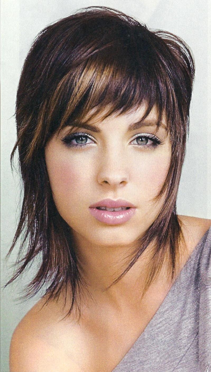 Best ideas about Medium Shag Hairstyles . Save or Pin Cute Wispy Medium Length Shag Haircut Woman Fashion Now.