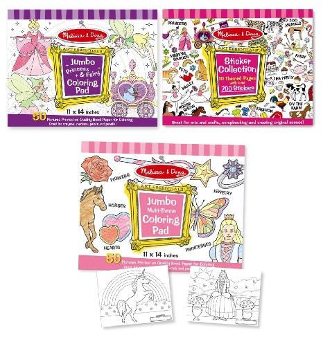 Melissa And Doug Coloring Books  Melissa & Doug Girls Sticker Pad Coloring Books Bundle