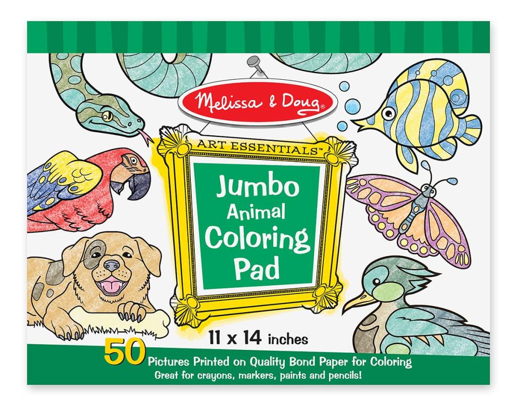 Melissa And Doug Coloring Books  Melissa and Doug Jumbo Coloring Pad Animals