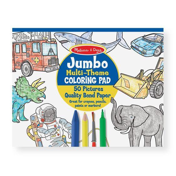 Melissa And Doug Coloring Books  Jumbo Coloring Pad Blue