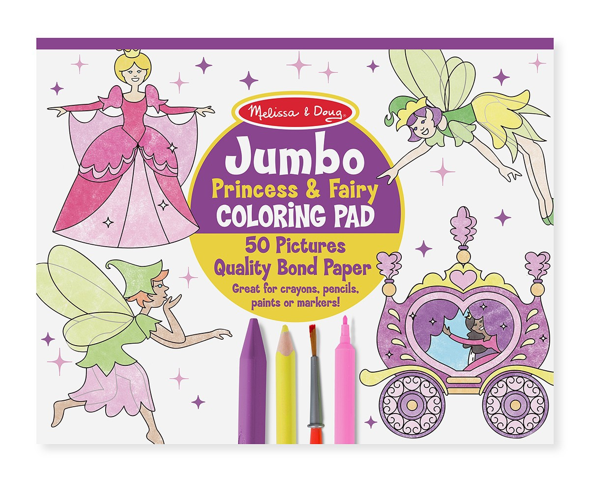Melissa And Doug Coloring Books  Princess & Fairy Coloring Pages Kid s Activity Books 4263