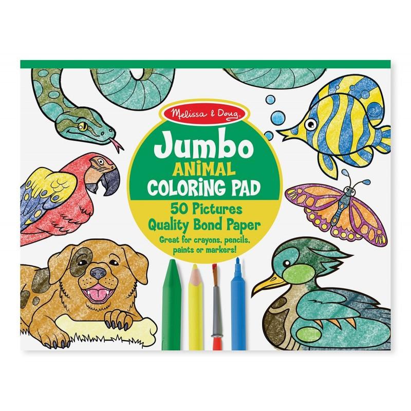 Melissa And Doug Coloring Books  Jumbo Animal Coloring Pad Kid s Activity Books 4200