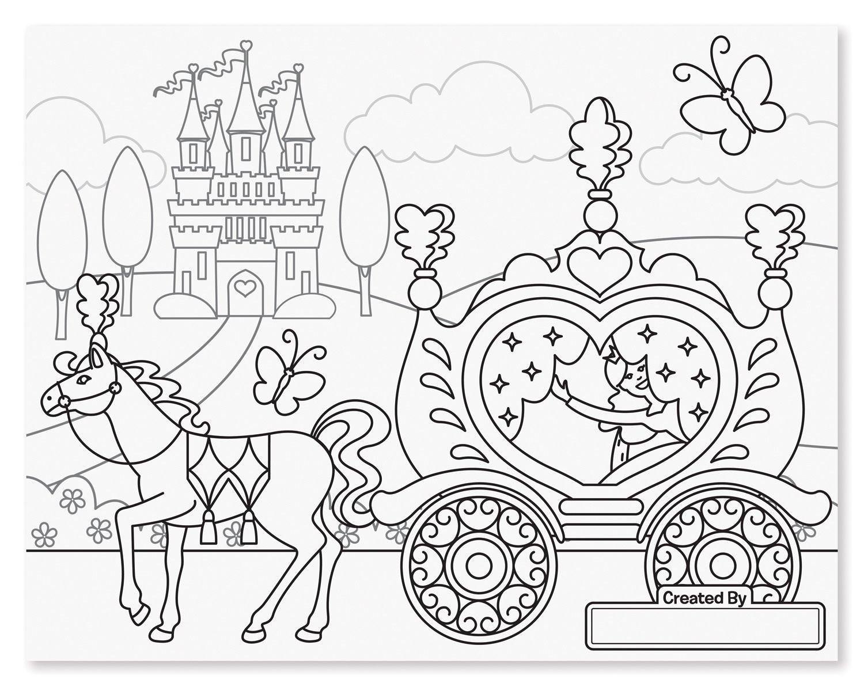 Melissa And Doug Coloring Books  Melissa & Doug Jumbo Princess & Fairy Colouring Pad