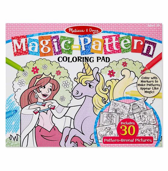 Melissa And Doug Coloring Books  Magic Pattern Marker Coloring Pad Pink