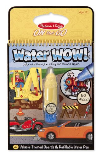 Melissa And Doug Coloring Books  Melissa & Doug Water Wow Coloring Book – Vehicles
