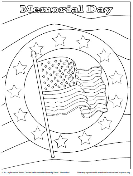 Memorial Day Coloring Pages For Adults  Coloring Sheet Memorial Day