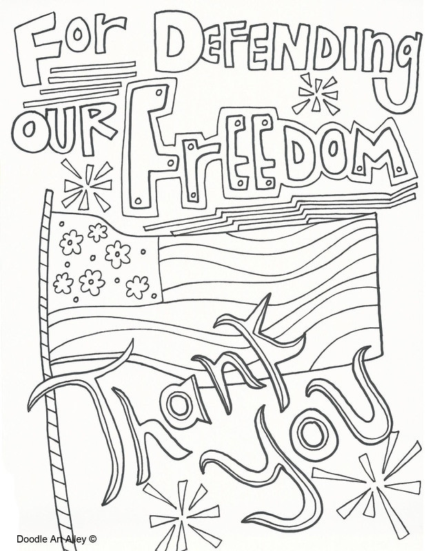 Memorial Day Coloring Pages For Adults  Memorial Day Coloring Pages Doodle Art Alley