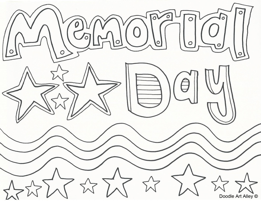 Memorial Day Coloring Pages Printable  Memorial Day Coloring Pages Doodle Art Alley