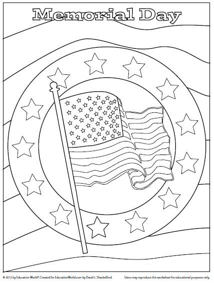 Memorial Day Free Coloring Sheets  Coloring Sheet Memorial Day