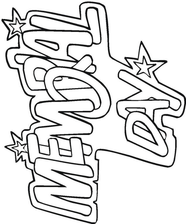 Memorial Day Free Coloring Sheets  Memorial Day Printables and Coloring Pages Let s Celebrate