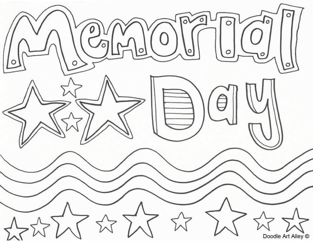 Memorial Day Free Coloring Sheets  Memorial Day Drawing at GetDrawings