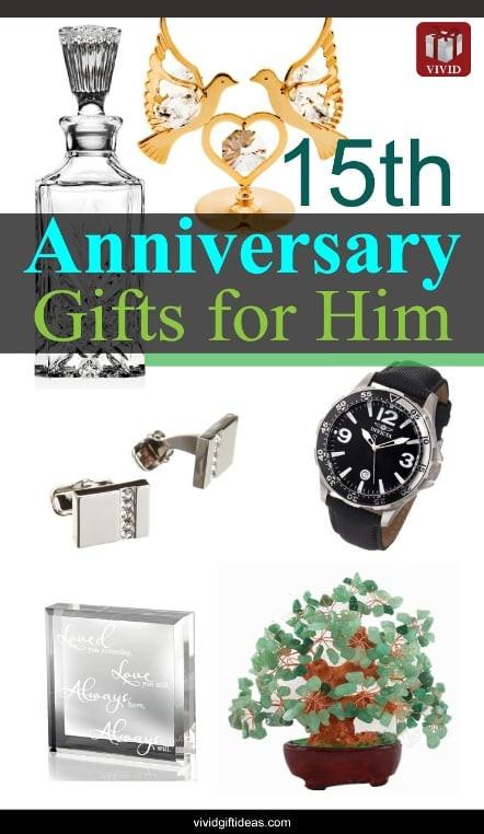 Mens Anniversary Gift Ideas  15th Wedding Anniversary Gift Ideas for Men