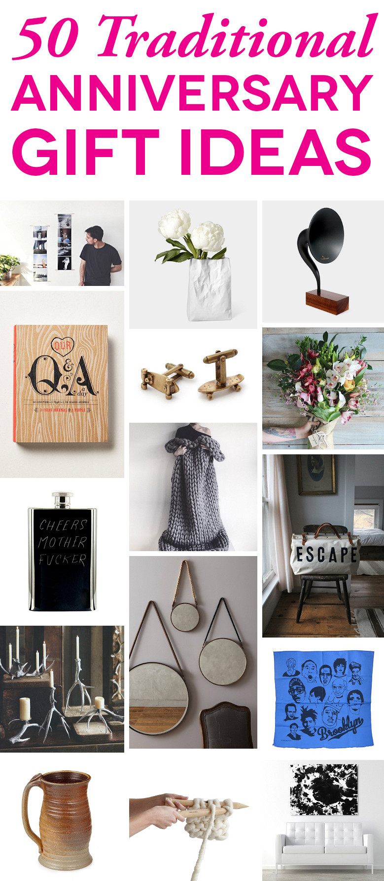 Mens Anniversary Gift Ideas  Traditional Anniversary Gifts By Year