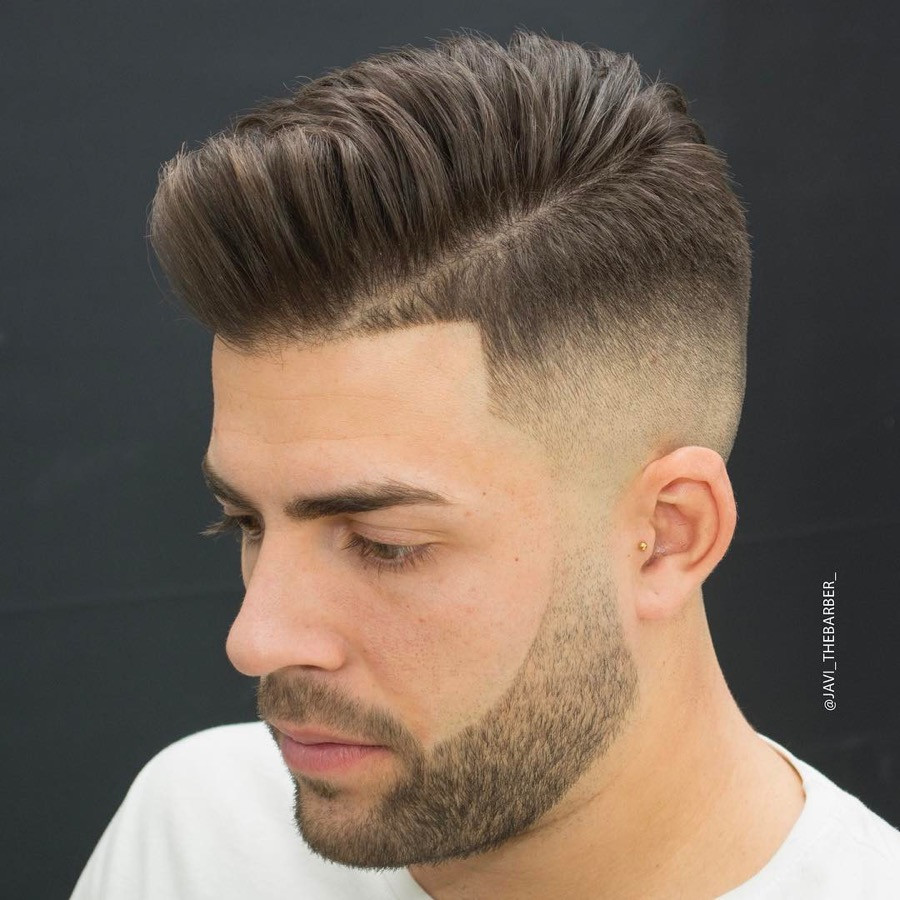 Best ideas about Mens Faded Haircuts . Save or Pin Men s Hairstyle Pompadour Now.