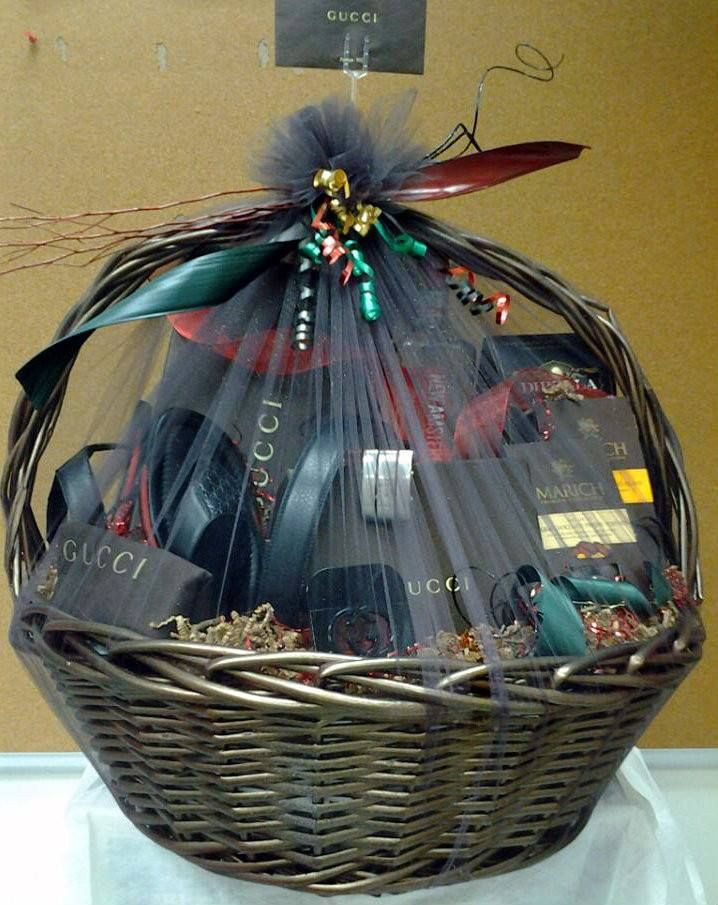"Best ideas about Mens Gift Baskets Ideas . Save or Pin Men s Fashion Gift Basket designed with ""Gucci"" Gift Items Now."