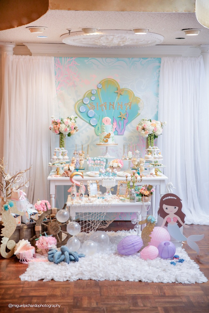 Best ideas about Mermaid Themed Birthday Party . Save or Pin Kara s Party Ideas Pastel Mermaid Birthday Party Now.