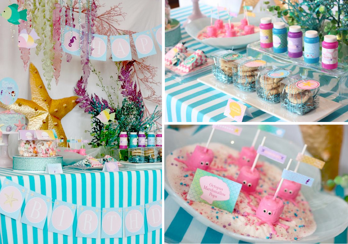 Best ideas about Mermaid Themed Birthday Party . Save or Pin Kara s Party Ideas Whimsical Mermaid Girl Under the Sea Now.