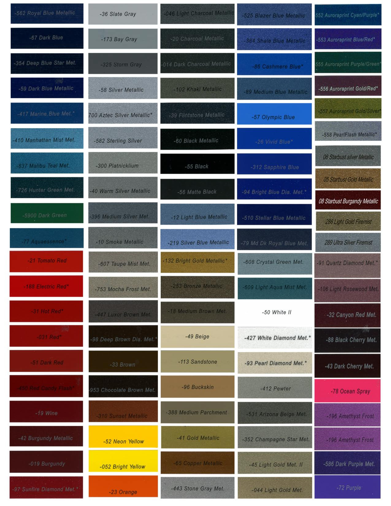 Best ideas about Metallic Paint Colors . Save or Pin Dupont Paint Color Chart Sample Now.