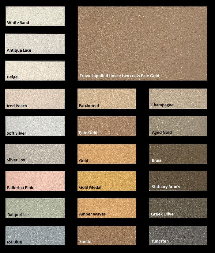 Best ideas about Metallic Paint Colors . Save or Pin Metallic Paint Color Chartsml Now.