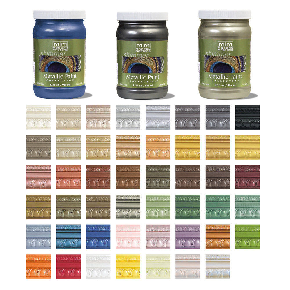 Best ideas about Metallic Paint Colors . Save or Pin Modern Masters Shimmer Metallic Paint 32oz Many Colors Now.