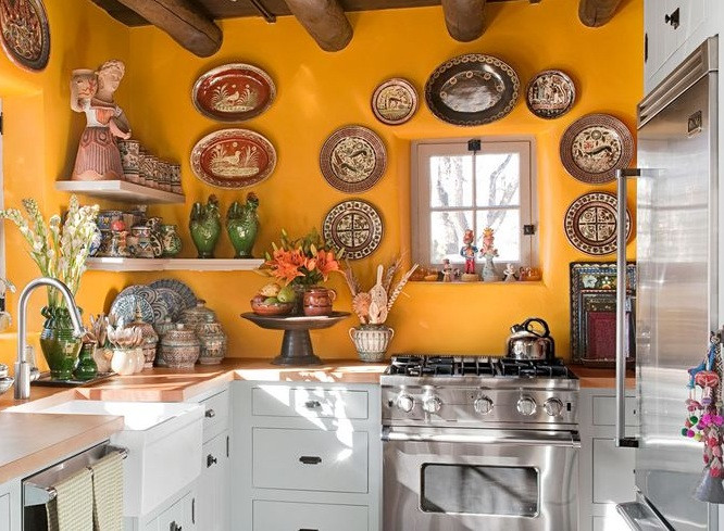 Best ideas about Mexican Kitchen Decor . Save or Pin Mexican kitchen decor with red cabinet paint Decolover Now.