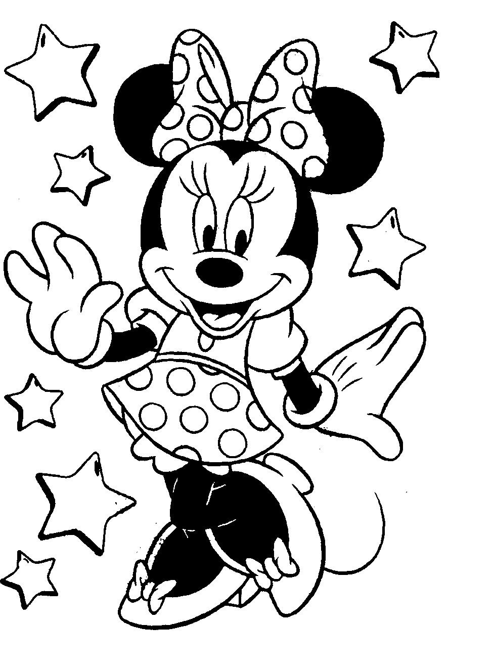 Mickey Mouse Coloring Pages For Girls  coloring pictures of minnie mouse Google Search