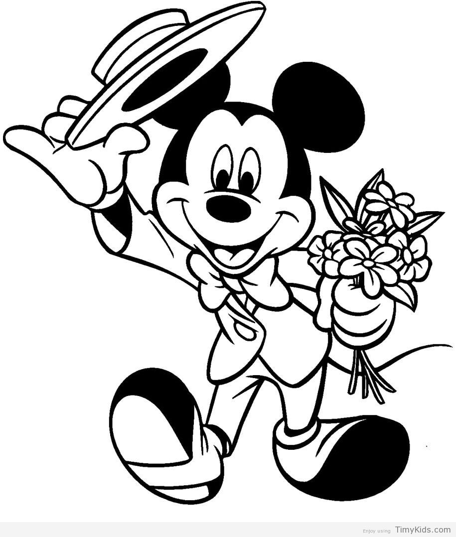 Mickey Mouse Coloring Pages For Girls  mickey mouse coloring page