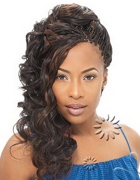 Micro Braids Hairstyles Wavy  Curly micro braids hairstyles