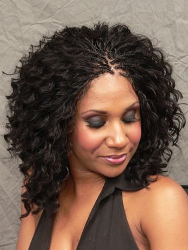Micro Braids Hairstyles Wavy  Breathtaking Medium Hairstyles for Black Women