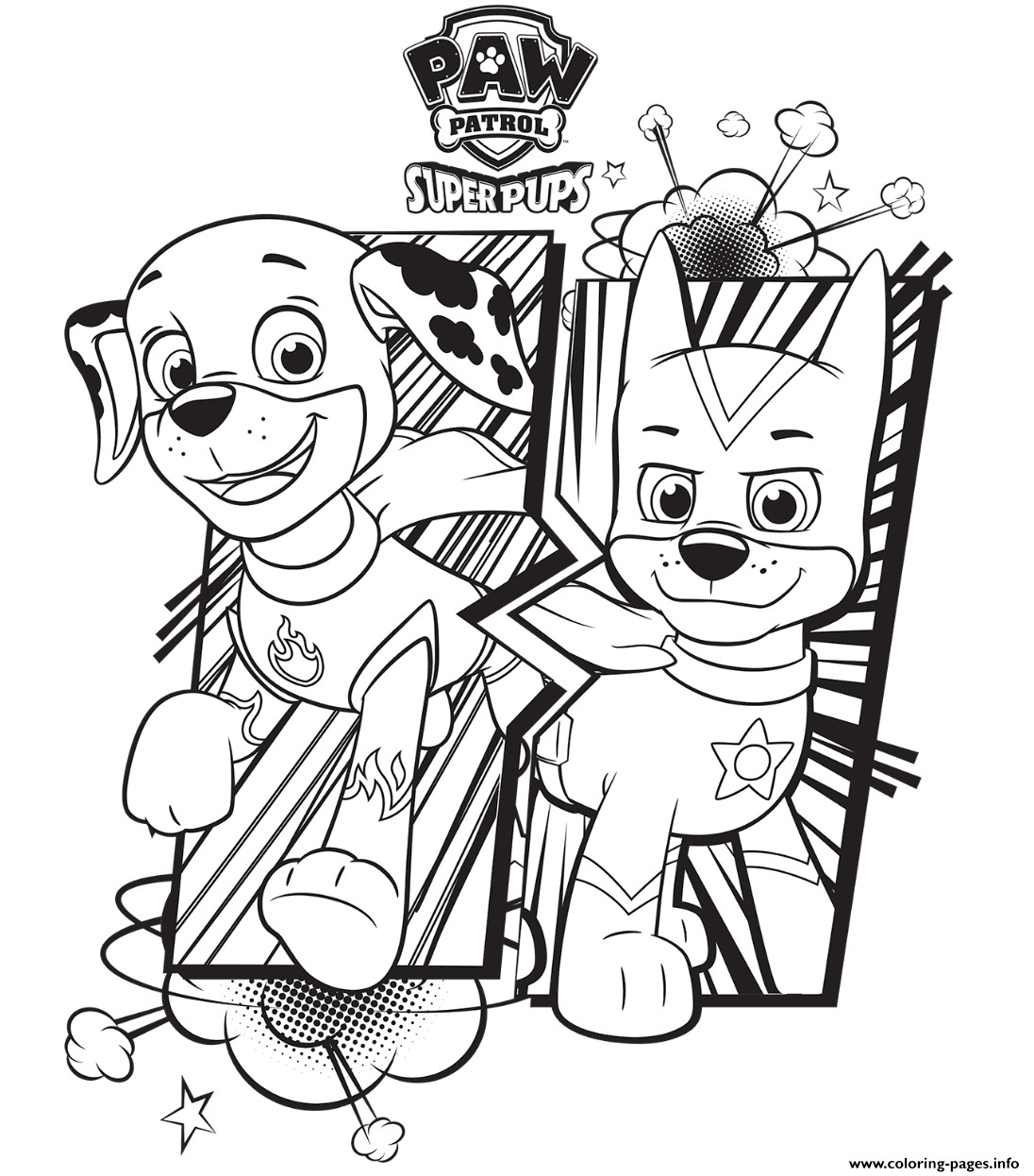 Mighty Pups Coloring Pages  FREE PAW Patrol Coloring Pages Happiness is Homemade
