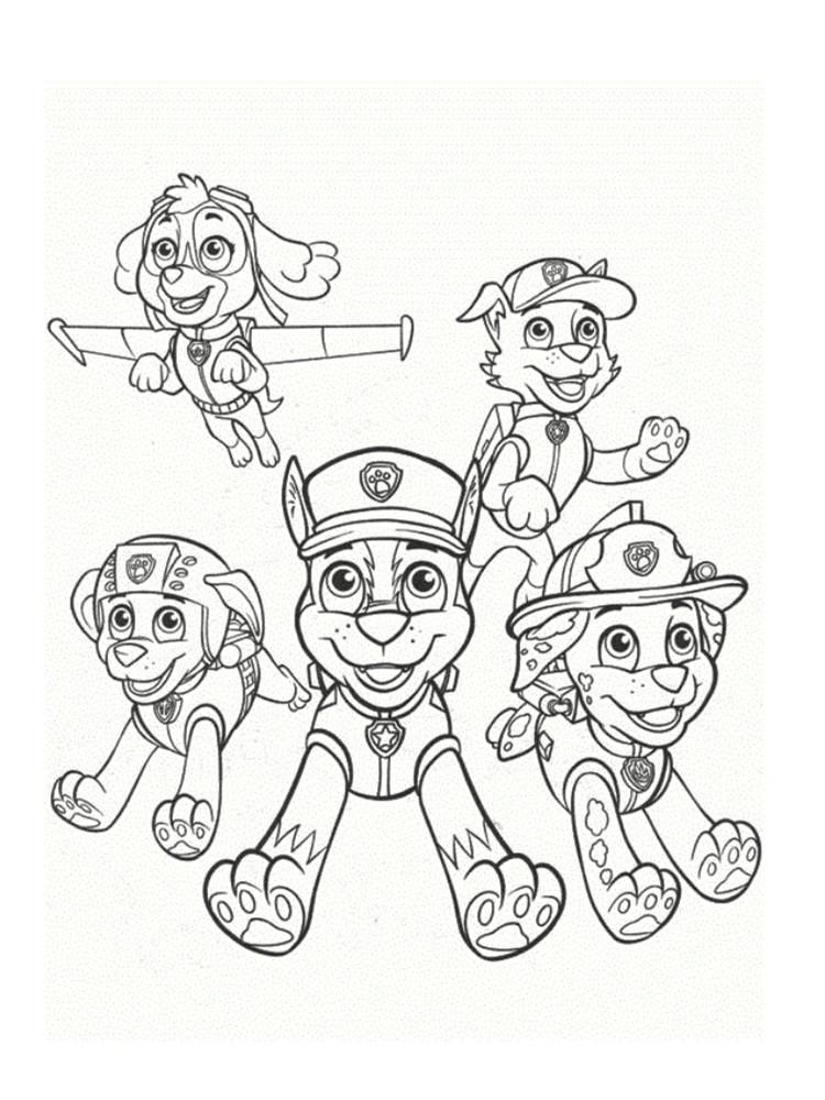 Mighty Pups Coloring Pages  Coloriage Pat Patrouille 30 dessins à imprimer