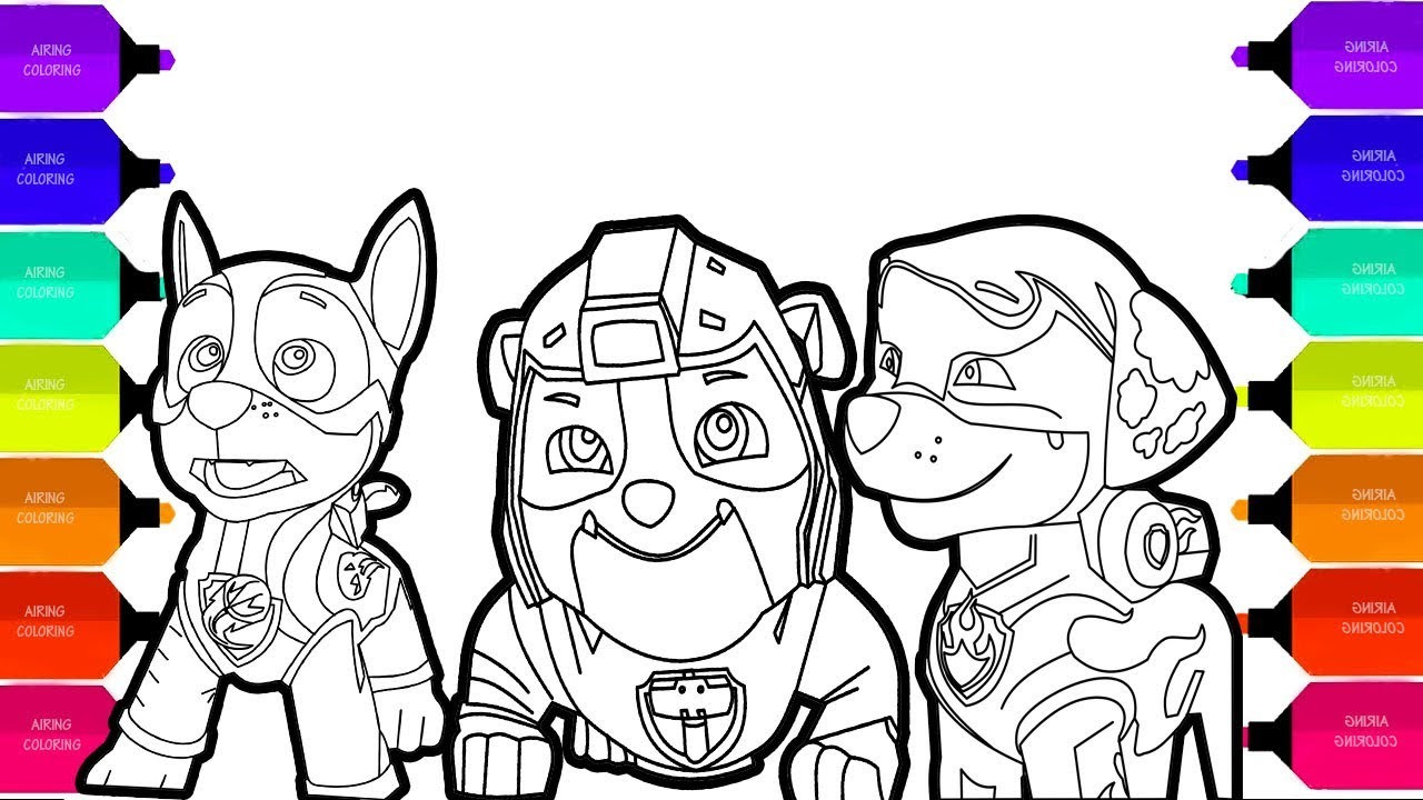 Mighty Pups Coloring Pages  Paw Patrol Mighty Pup 2018 Coloring Pages