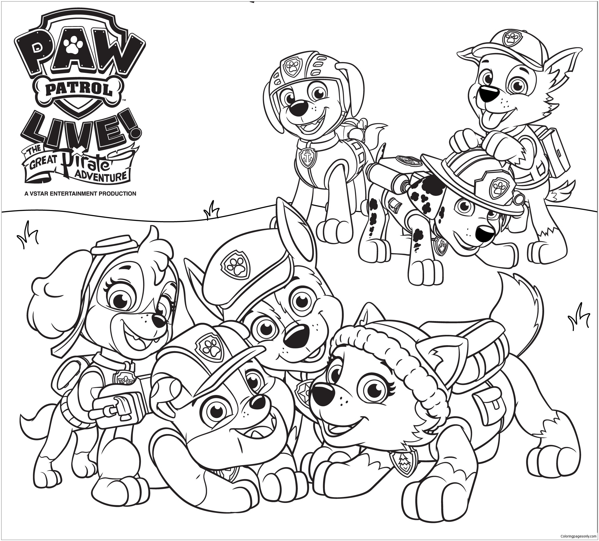 Mighty Pups Coloring Pages  Paw Patrol 45 Coloring Page Free Coloring Pages line