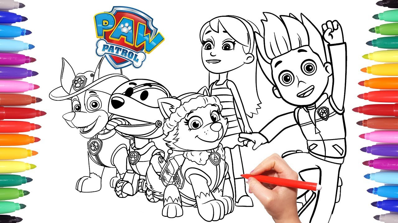 Mighty Pups Coloring Pages  PAW PATROL Coloring Book