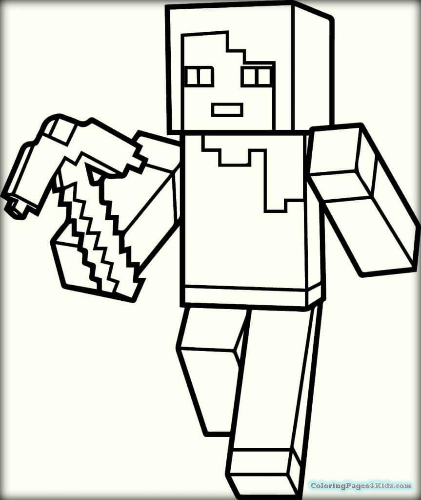 Best ideas about Minecraft Coloring Book For Kids . Save or Pin Minecraft Coloring Pages Free Now.
