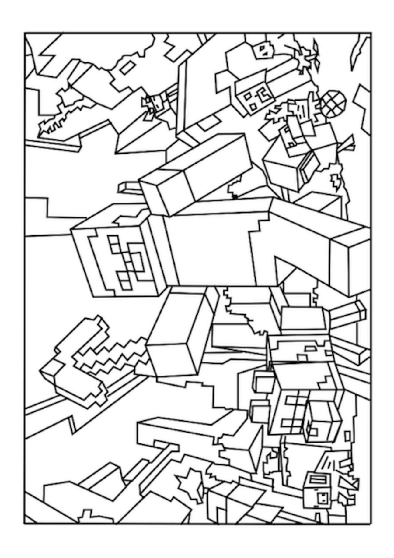 Best ideas about Minecraft Coloring Book For Kids . Save or Pin Printable Minecraft Coloring Pages Coloring Home Now.