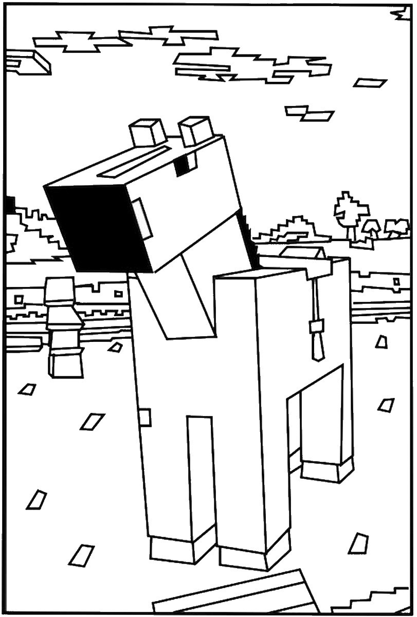 Minecraft Coloring Sheet  Minecraft Coloring Pages – Birthday Printable