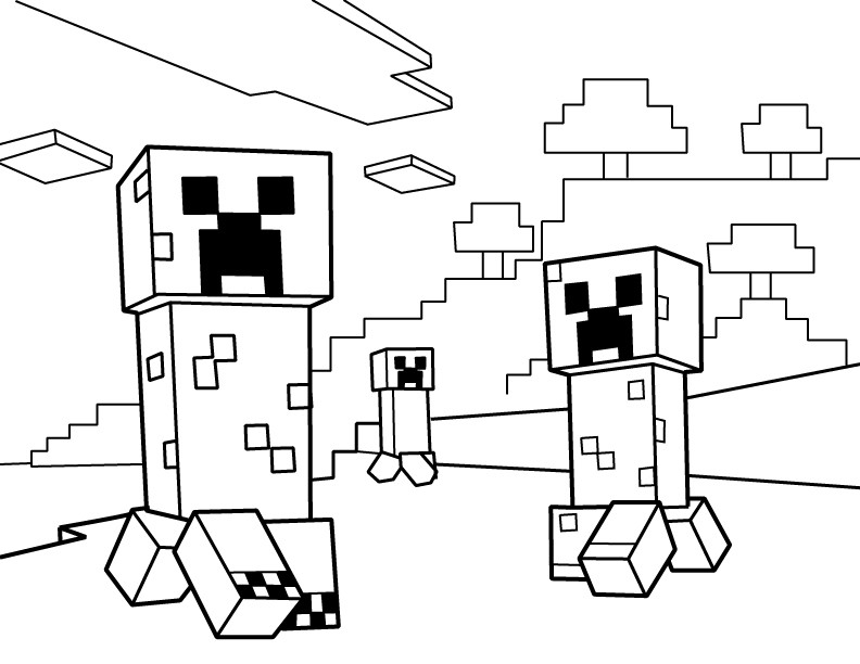 Minecraft Coloring Sheet  Minecraft Coloring Pages Best Coloring Pages For Kids