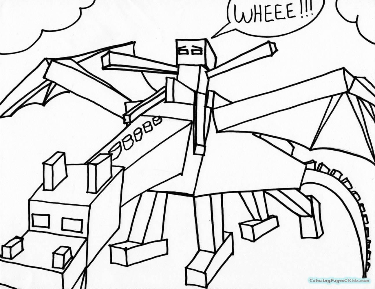 Minecraft Coloring Sheet  Minecraft Coloring Pages Ender Dragon
