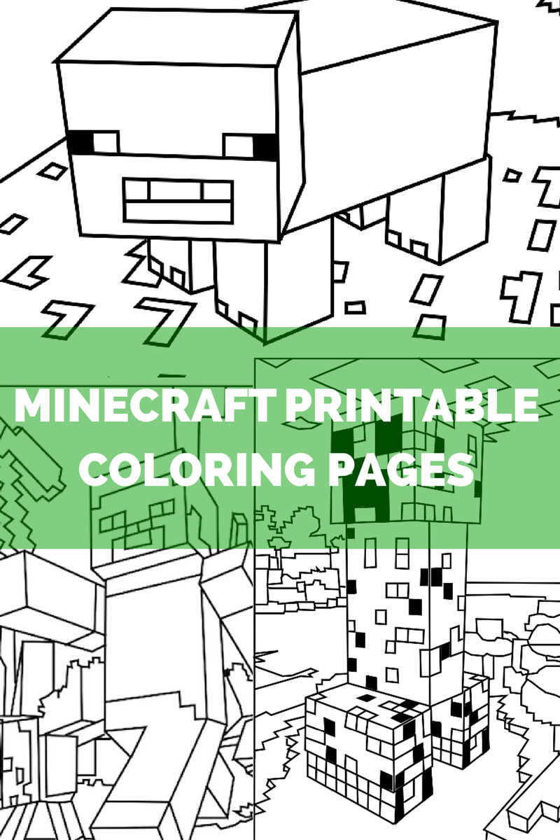 Minecraft Coloring Sheet  Minecraft Coloring Pages