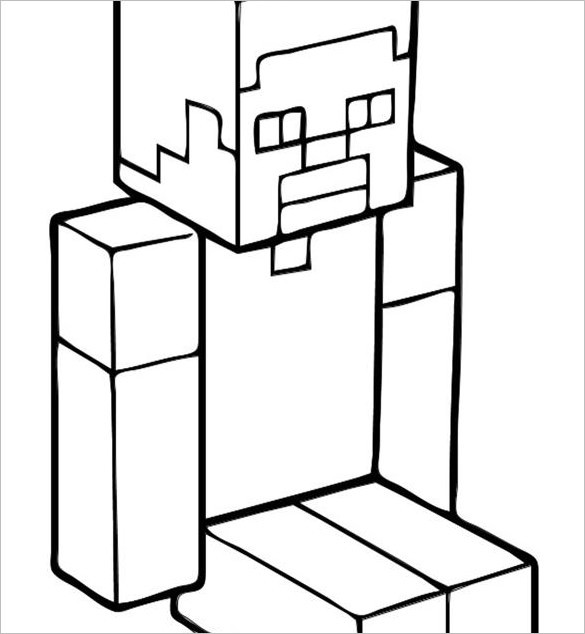 Minecraft Steve Coloring Pages  20 Minecraft Coloring Pages PDF PSD PNG