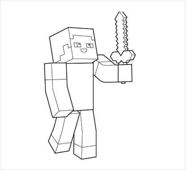 Minecraft Steve Coloring Pages  10 Minecraft Coloring Pages JPG Download