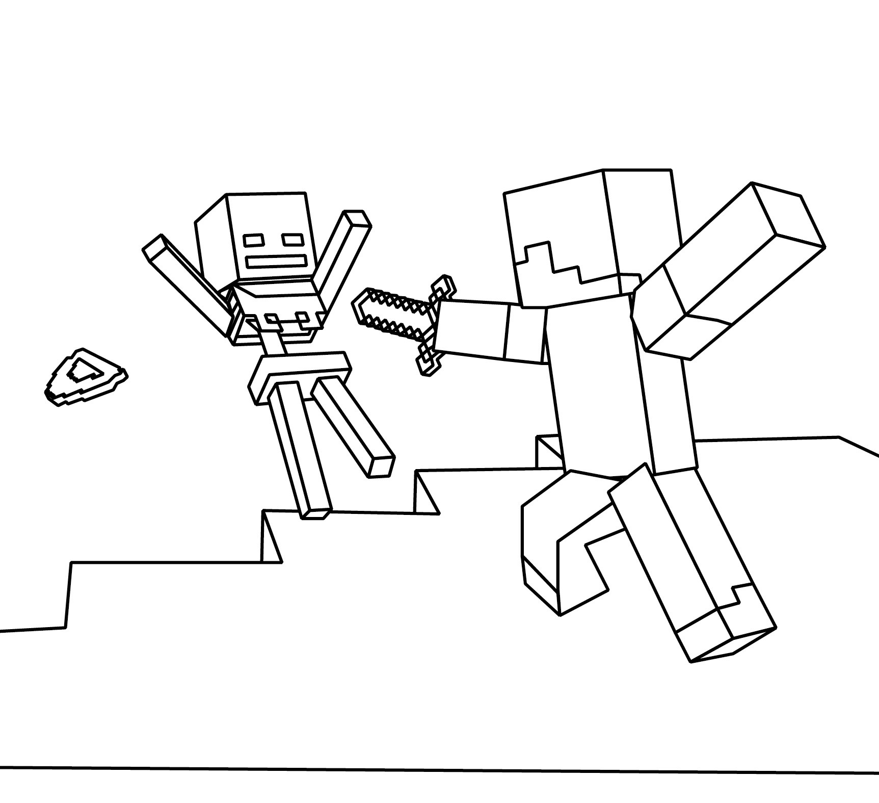 Minecraft Steve Coloring Pages  Minecraft Coloring Picture – Hey Nils